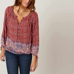 Lucky Brand Tapestry Patterned blouse